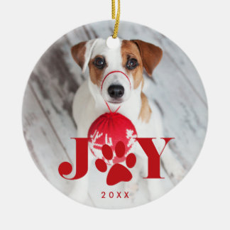 Festive Paws | Pet Photo Christmas Ornament