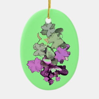 FESTIVE PENDANTS AND STICKERS CERAMIC OVAL DECORATION