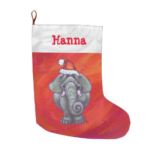 Festive Personalized Elephant Christmas