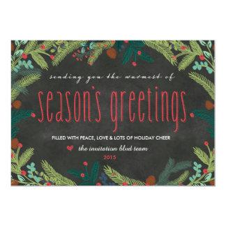 Festive Pines Chalkboard Holiday Card 13 Cm X 18 Cm Invitation Card