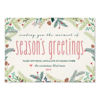 Festive Pines Holiday Card 13 Cm X 18 Cm Invitation Card