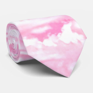 Festive Pink Clouds Tie
