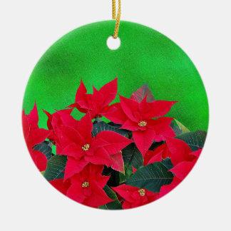 Festive poinsettia Christmas tree ornament