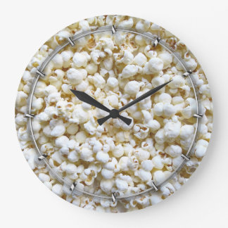 Festive Popcorn Decor Photography Wall Clock