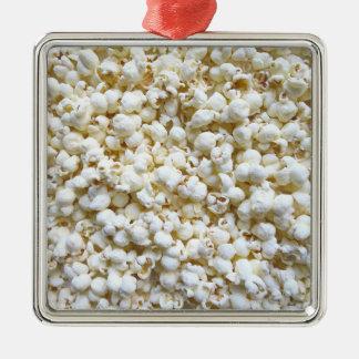 Festive Popcorn Texture Photography Decor Silver-Colored Square Decoration
