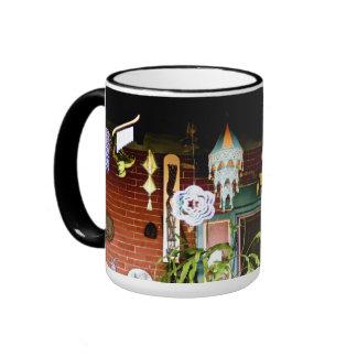 Festive Porch Ringer Mug
