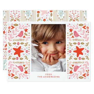 Festive Pretty Christmas Holiday Card