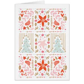 Festive Pretty Folded Christmas Greeting Card