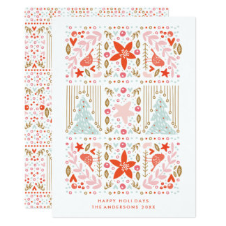 Festive Pretty Holiday Christmas Card