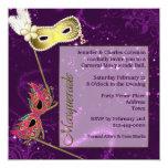 Festive Purple Custom Masquerade Ball Invitation