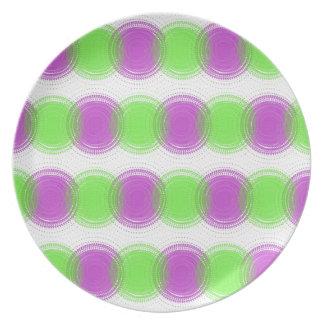 Festive Purple & Lime Green Pattern Plates