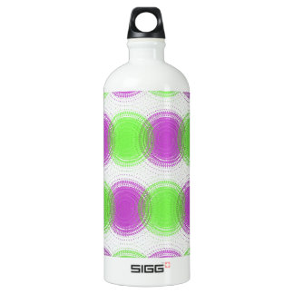 Festive Purple & Lime Green Pattern SIGG Traveller 1.0L Water Bottle
