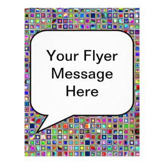 Festive Rainbow Textured Mosaic Tiles Pattern 21.5 Cm X 28 Cm Flyer
