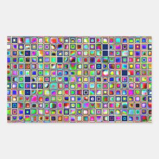 Festive Rainbow Textured Mosaic Tiles Pattern Stickers