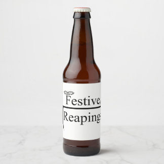 Festive Reapings custom beer bottle labels
