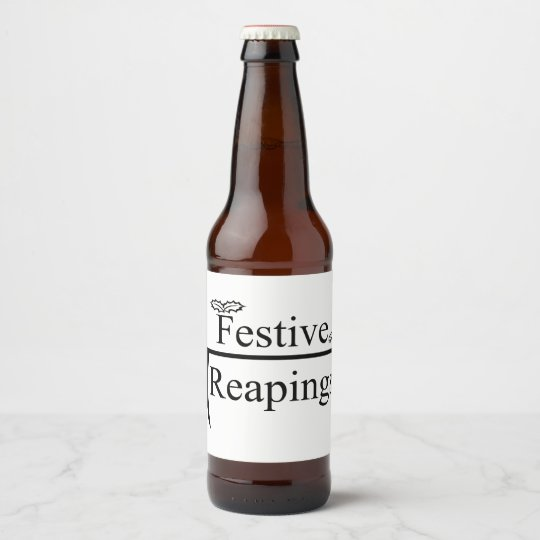Festive Reapings custom beer bottle labels