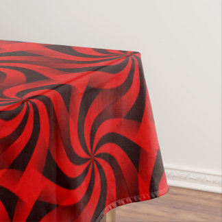 Festive Red and Black Tablecloth