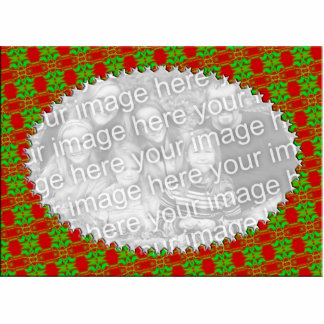 Festive Red and Green Photo Frame Standing Photo Sculpture