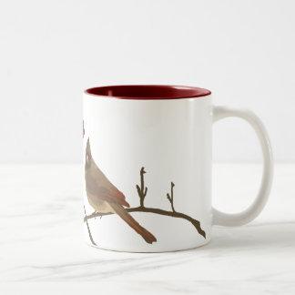 Festive Red Cardinals Coffee Mugs