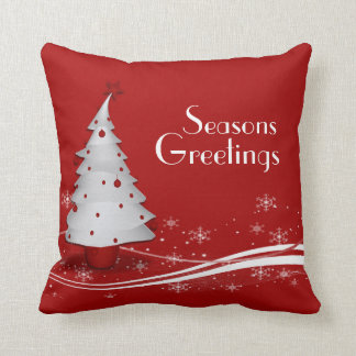 Festive Red Christmas Cushion