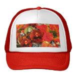 Festive Red Decorations Mesh Hats