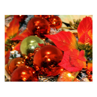 Festive Red Decorations Postcard
