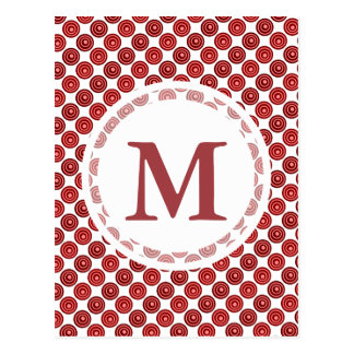 Festive Red Double Dots Pattern Postcard
