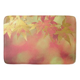 Festive Red Golden Yellow Autumn Maple Garden Bath Mats