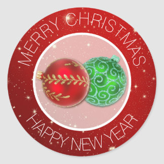 Festive Red Merry Christmas Envelope Seals