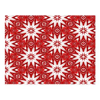 festive red ornament pattern postcard