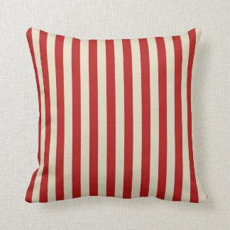 Festive Retro Vintage Vertical PopCorn Stripes Cushion