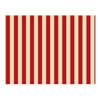 Festive Retro Vintage Vertical PopCorn Stripes Postcard