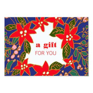Festive Salon and Spa Holiday Gift Certificate 9 Cm X 13 Cm Invitation Card