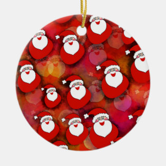 Festive Santa Claus Pattern Christmas Ornament