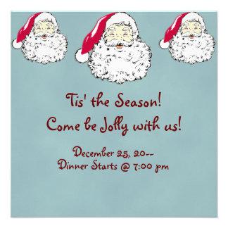 Festive Santa Clause Christmas Invitations