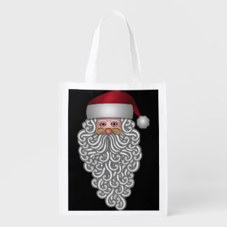 Festive Santa Reusable Grocery Bag