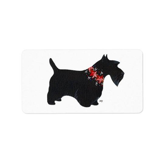 Festive Scottie Stickers! Address Label