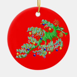 Festive Sea Dragon Ornament