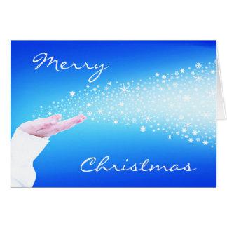 Festive Snowflakes Christmas Greeting Card