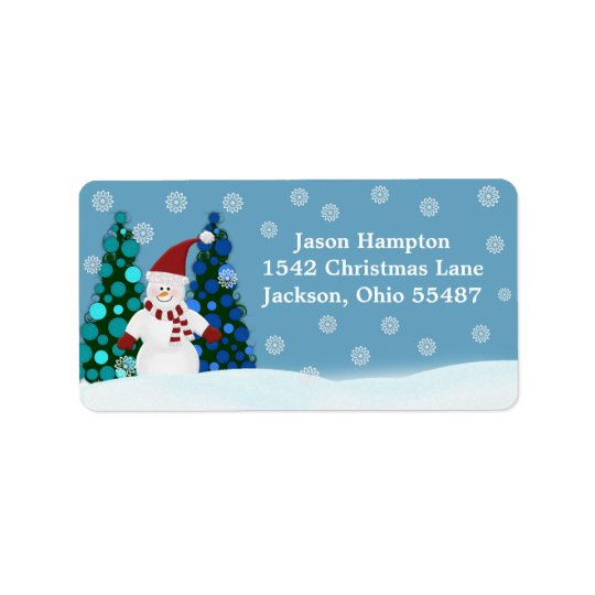 Festive Snowman Address Labels