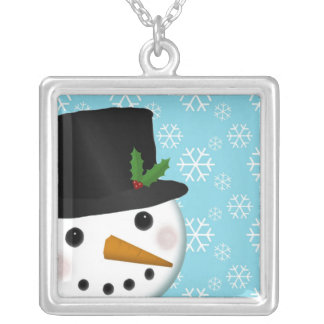 Festive Snowman Holiday Necklace