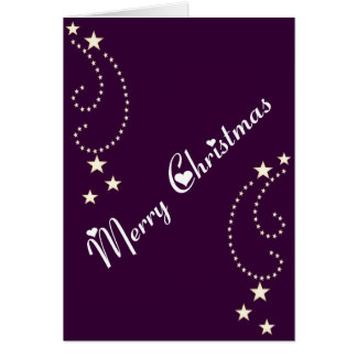 Festive star border greeting card
