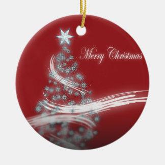 Festive Star Chic Christmas Evergreen Christmas Ornament