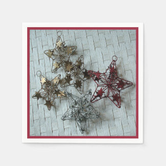 Festive Stars Disposable Serviettes