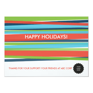 Festive Stripes Flat Card