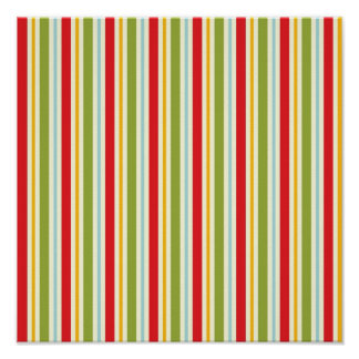 Festive Stripes ~ Gift Wrapping Paper 13.25x13.25 Poster