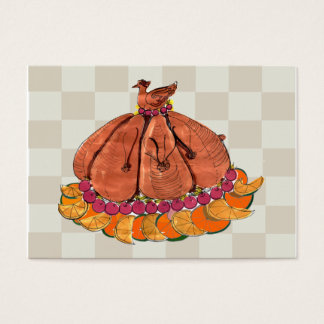Festive Thanksgiving Placecard Business Card