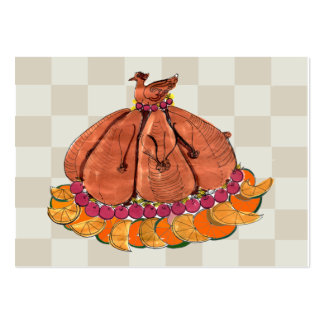 Festive Thanksgiving Placecard Business Card Template
