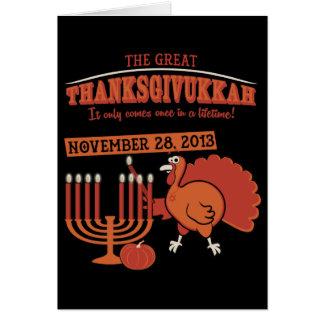 Festive 'Thanksgivukkah' Card