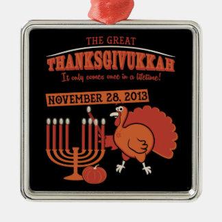 Festive 'Thanksgivukkah' Christmas Ornament